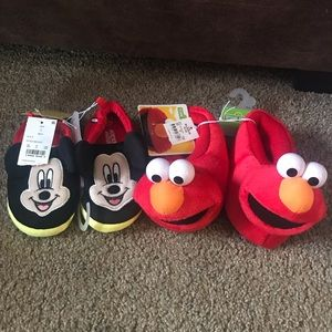Other - Toddler slippers Mickey & Elmo